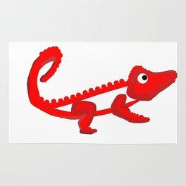 Firey croc Rug