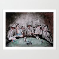Bankers (2008) - Original Sold. Art Print