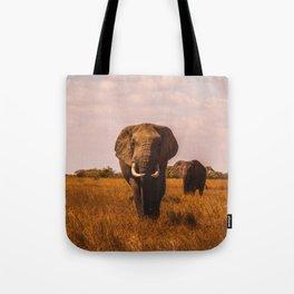 Elephant Safari (Color) Tote Bag