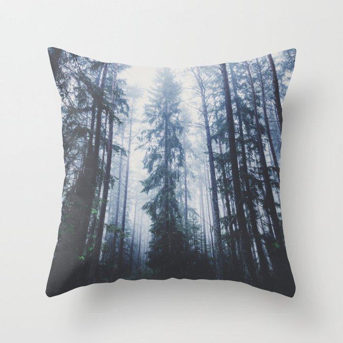 The mighty pines throw pillow by HappyMelvin