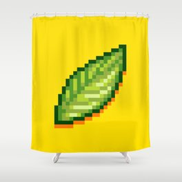 Pixel Leaf Shower Curtain