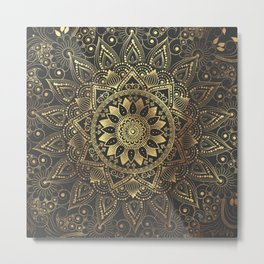 Elegant gold mandala artwork Metal Print