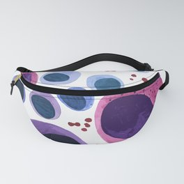 Blood cells inspired illustration Fanny Pack