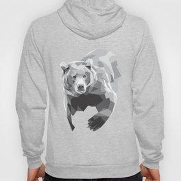 Geometric Grey Bear Hoody