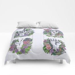LOVE ASL Art- square version Comforters