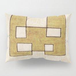 Protoglifo 06 'Mustard traverse cream' Pillow Sham