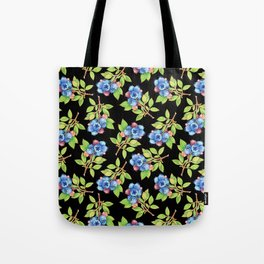 Wild Blueberry Sprigs Tote Bag