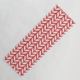 Shibori Chevrons - Peppermint Yoga Mat