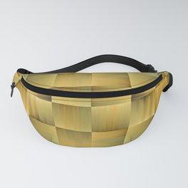 Golden Basket Weave Fanny Pack