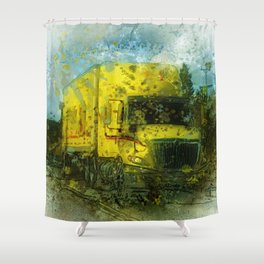 The Delivery  - Freight Truck Shower Curtain