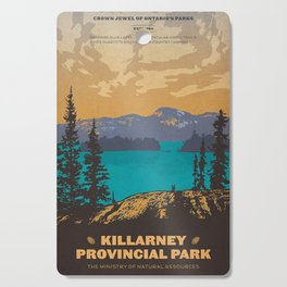 Vintage poster - Killarney Provincal Park, Canada Cutting Board