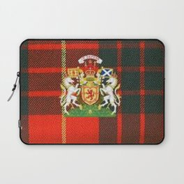 RED & GREEN CAMERON TARTAN ROYAL SCOTLAND Laptop Sleeve
