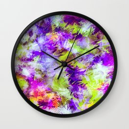 Potpourri in Purple and Lime Wall Clock