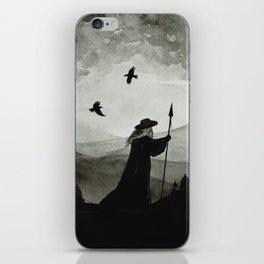 Odin, Huginn and Muninn. iPhone Skin