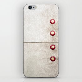 Four on Gray iPhone Skin