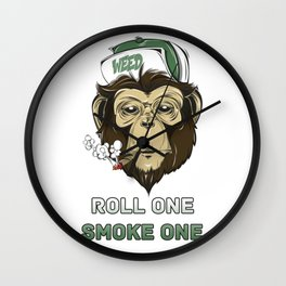 Weed Lovers - Roll One Smoke One Wall Clock