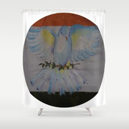 01PA14 | Flag of India | Peace | Artist Amiee | AmyTmy Shower Curtain
