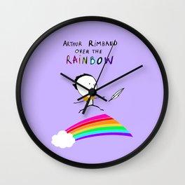 ARTHUR RIMBAUD OVER THE RAINBOW Wall Clock