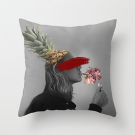 Blind Society Collage Art Throw Pillow