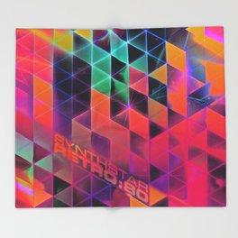synthstar retro:80 Throw Blanket