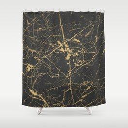 Marble Black Gold - Young Forever Shower Curtain