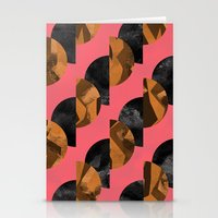 black and gold Stationery Cards featuring gold,black by Georgiana Paraschiv