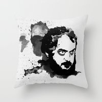 kubrick Throw Pillows featuring Stanley Kubrick by Kongoriver