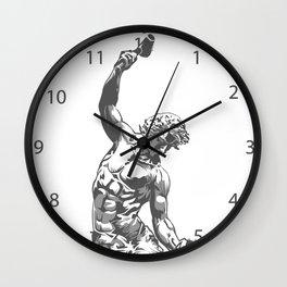 Self-Made Men statue Wall Clock