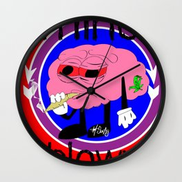 mind-blown #swagg Wall Clock