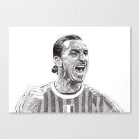 zlatan Canvas Prints featuring Zlatan by Rik Reimert