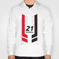 senna Hoodies featuring Formula E 2015/2016 - #21 Senna by MS80 Design