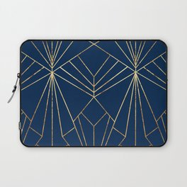Navy & Gold Art Deco - Large Scale Laptop Sleeve