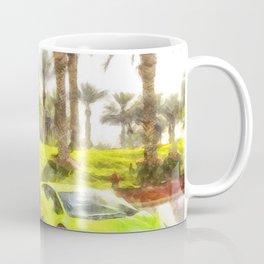 Dubai Super Cars Art Coffee Mug