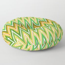 Sawtooth wave in retro colors Floor Pillow