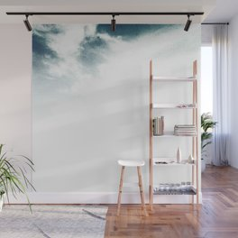 Halftone Clouds Wall Mural