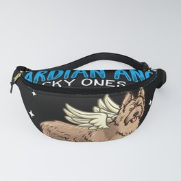 Berger Picard Dog with Guardian Angel saying Fanny Pack