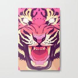 cool angry tiger Metal Print