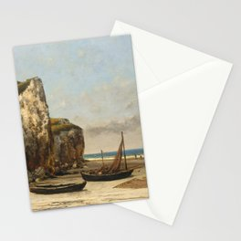Beach in Normandy by Gustave Courbet,1875 Stationery Cards