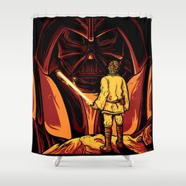 Darth Vader and Luke Skywalker Shower Curtain