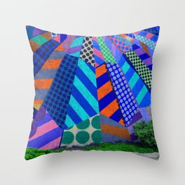 The Patterns on the Wall Throw Pillow