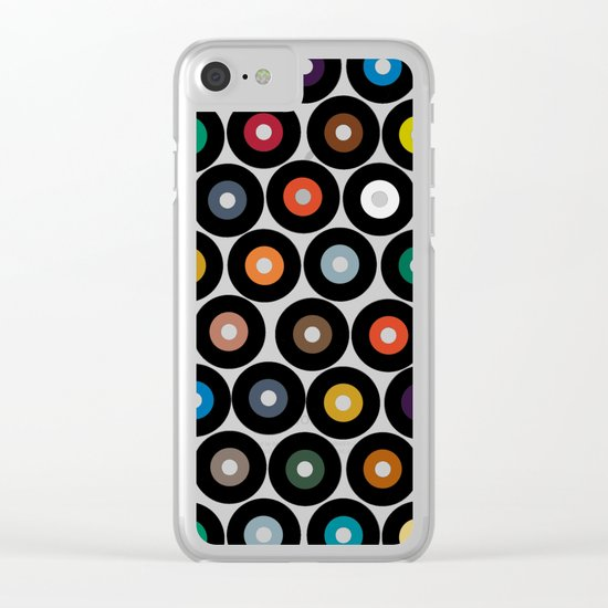 VINYL blue Clear iPhone Case