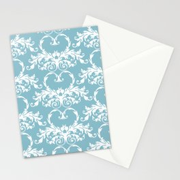 Blue Hearts Stationery Cards