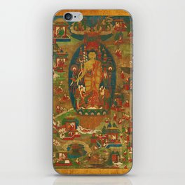 Rubino ed Yoga India 2 iPhone Skin