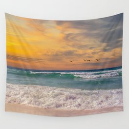 Navarre Beach Sunset Wall Tapestry