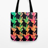 Tote Bags featuring penguin-916 by catsuper
