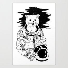 Lolcatronaut Art Print