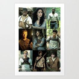 The Maze Runner Character's Art Print