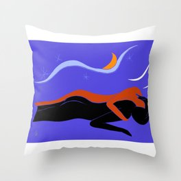 Couple under the Starry Sky, v. 02 Throw Pillow