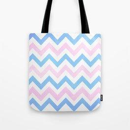 Blue pink Chevron Pattern Tote Bag