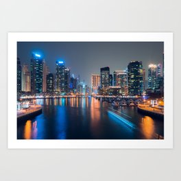 Dubai in motion Art Print